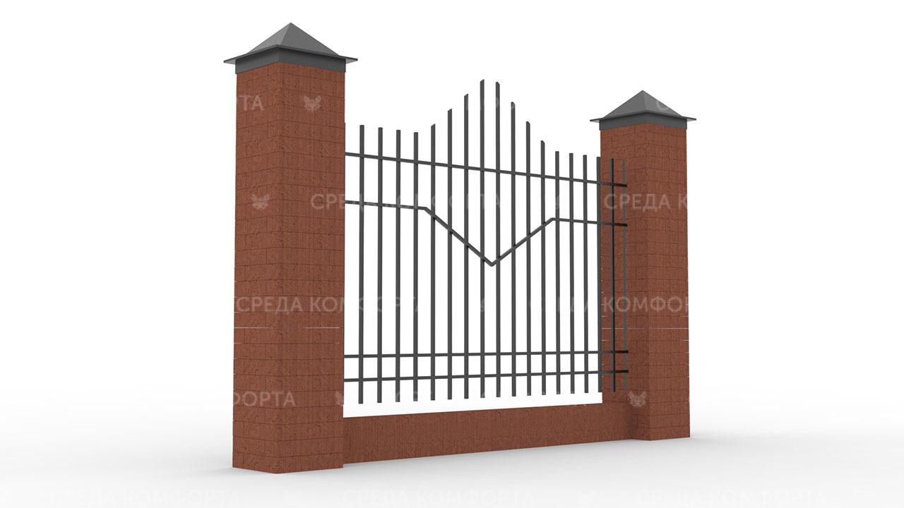 Забор из профильной трубы ZBR0150