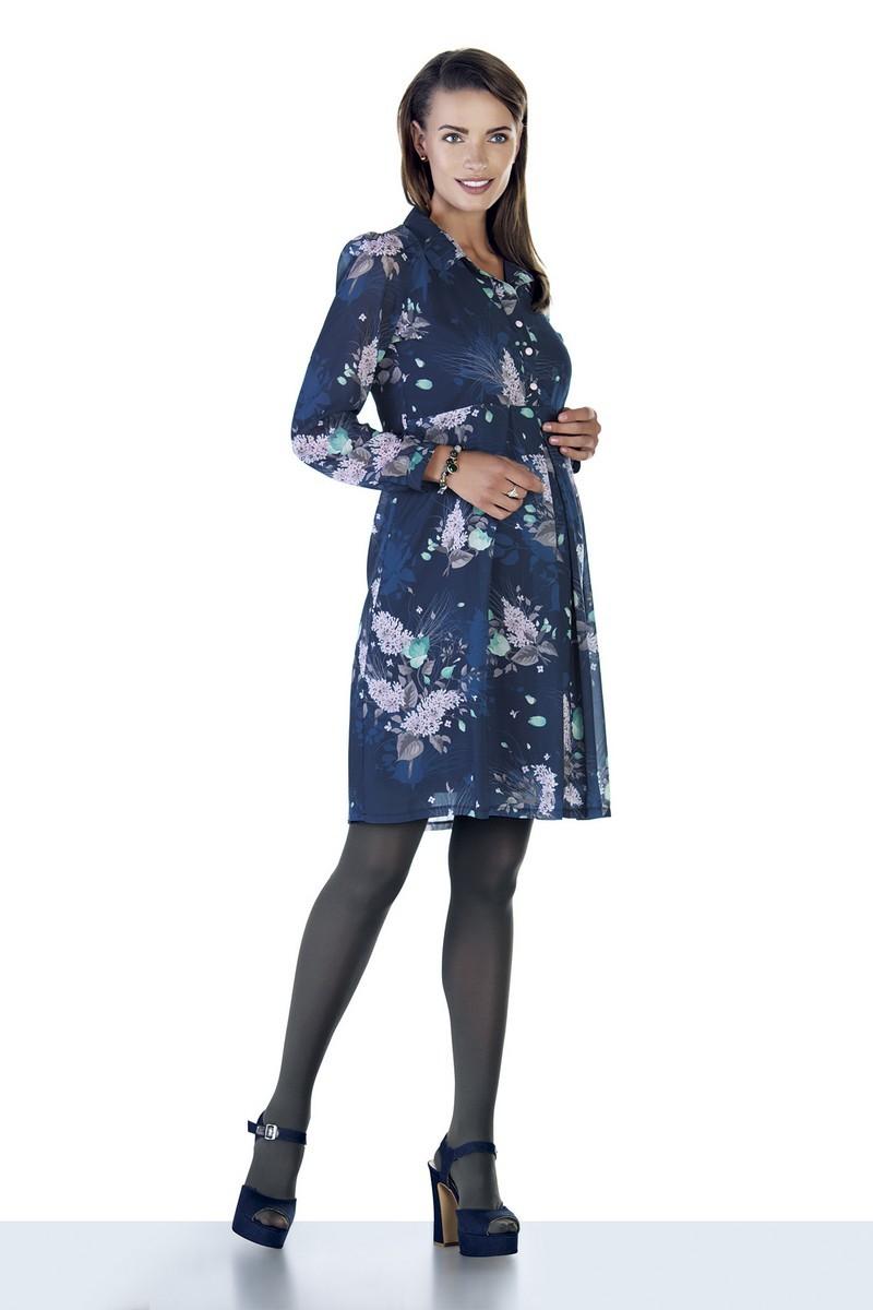 Платье для беременных 09053 синий