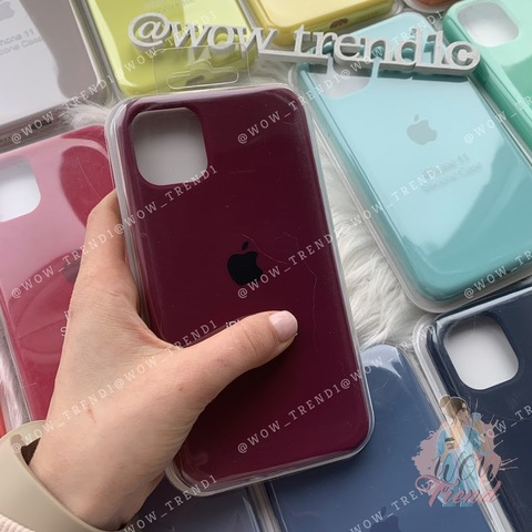 Чехол iPhone 11 Pro Silicone Case Full /marsala/