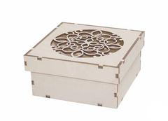 Шкатулка, 10*5,5*10 см, заготовка для творчества, деревянная.