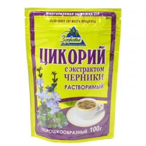 Напиток цикорий ЗДОРОВЬЕ Черника 100 гр ДП РОССИЯ