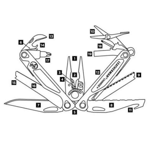 Мультитул Leatherman Charge Plus - схема   Multitool-Leatherman.Ru