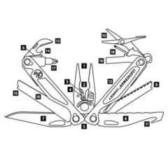 Мультитул Leatherman Charge Plus - схема | Multitool-Leatherman.Ru