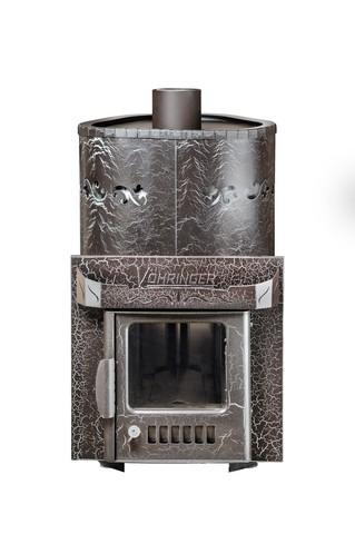 Дровяная банная паровая печь Ферингер МИНИ с закрытой каменкой в кожухе