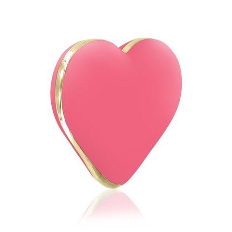 Коралловый вибратор-сердечко Heart Vibe