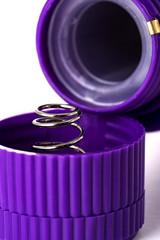 Вибратор с клиторальным стимулятором (фиолетовый) 18 см.