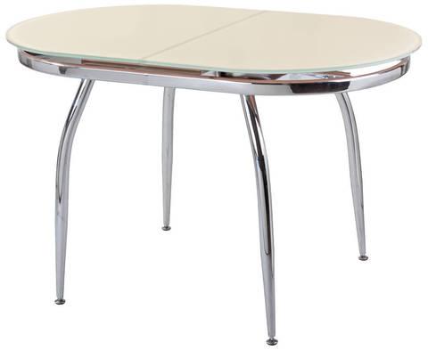 Овальный стеклянный обеденный стол Бакарди, раздвижной