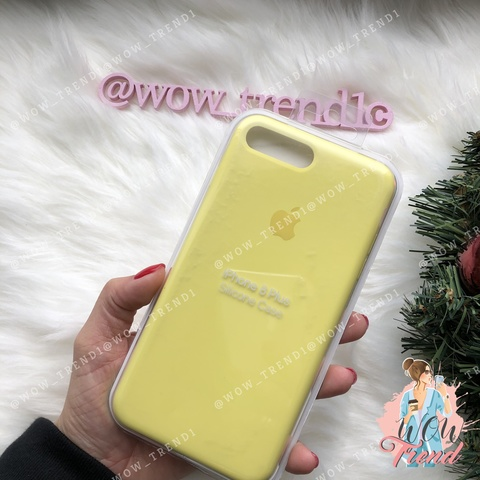 Чехол iPhone 7+/8+ Silicone Case /lemonade/ лимонад original quality