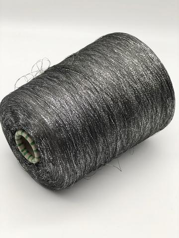 Вискоза с люрексом PEARL E. MIROGLIO серо-черная с серебром