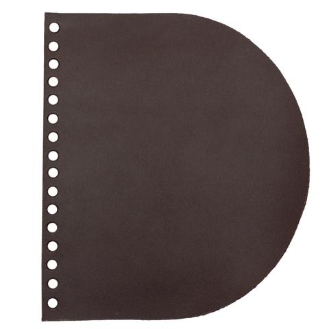 Клапан для сумочки кожаный темно-коричневый 2,5 мм