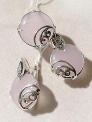 Наска (кольцо + серьги из серебра)