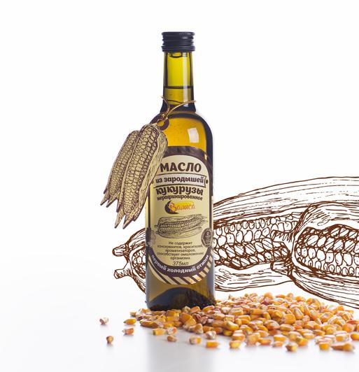 Масло из зародышей кукурузы нерафинированное Валиса 375мл