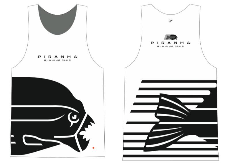 Майка клубная GRi Piranha, белая, мужская