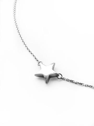 Серебряное колье звезда