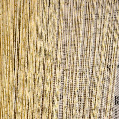 Шторы дождь однотонные - Желтые. Ш-300см., В-280см. Арт. 13