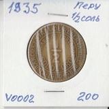 V002 1935 Перу 1/2 соль