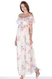Платье для беременных 09534 цветы