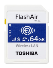 Wi-Fi карта памятиToshiba FlashAir W-04 SD-UWA064G 64Gb
