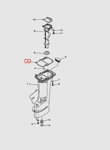Прокладка под двигатель для лодочного мотора T15, OTH 9,9 SEA-PRO (15-5)