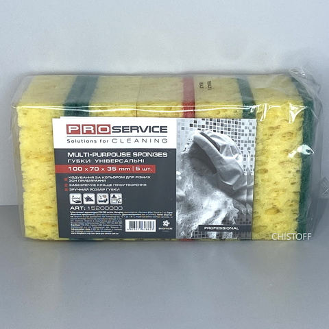Губки кухонные PRO Service крупнопористые 100х70х35 мм (5 шт.)