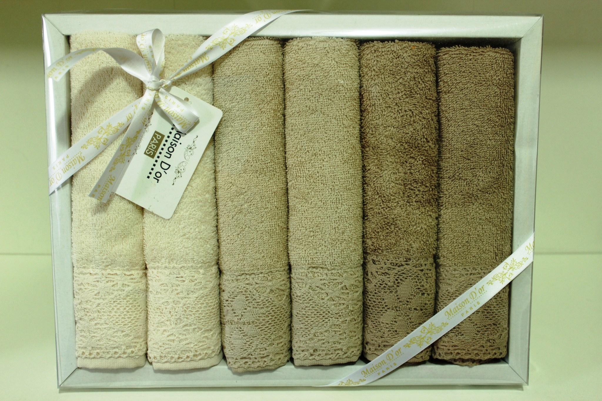 Кухонные полотенца Набор махровых салфеток NATURAL НАТУРАЛ   32х50  Maison Dor (Турция) NATURAL.JPG