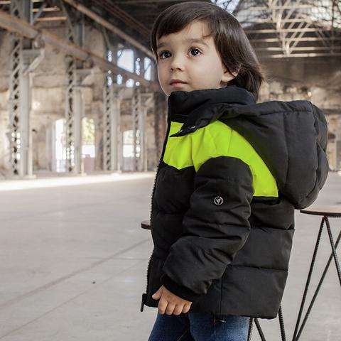 Демисезонная детская куртка с светоотражающими вставками light Green boy на мальчика