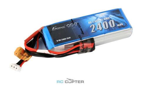 АКБ GensAce 2400mAh 2S 7.4V LiPo RX battery