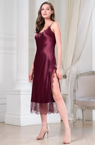 Длинная женская сорочка MIA-Amore SHARON  ШЕРОН 3808 бордо