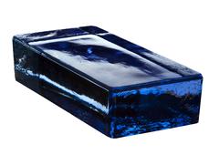 Кирпич стеклянный Vetropieno blu 24х11,7х5,3 см.