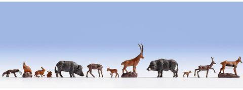 Дикие животные - 9 фигурок, (H0)