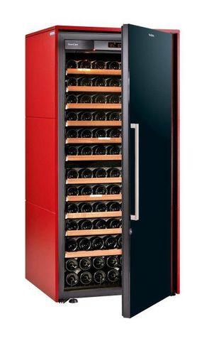 Винный шкаф EuroCave S Collection M красный сатин, сплошная дверь, максимальная комплектация