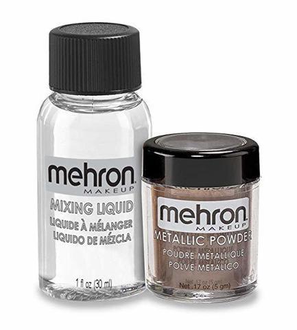 MEHRON Металлическая пудра-порошок Metallic Powder (5 г) с жидкостью для смешивания Mixing Liquid (30 г), Bronze (Бронза)