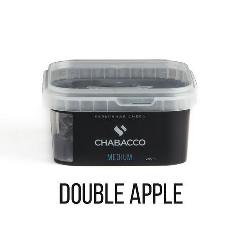 Кальянная смесь Chabacco Medium - Double Apple (Двойное Яблоко) 200 г