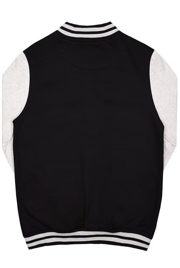 Бомбер черный с серым фото спина