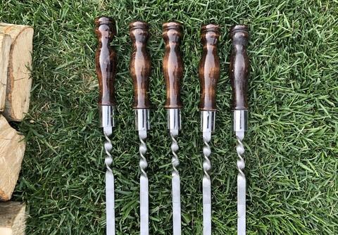 Шампур с деревянной ручкой 3мм (ширина 18мм) №6