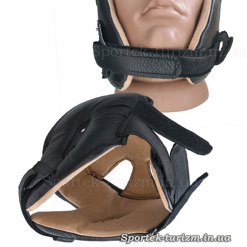 Застібки захисного шкіряного шолома для карате JAB