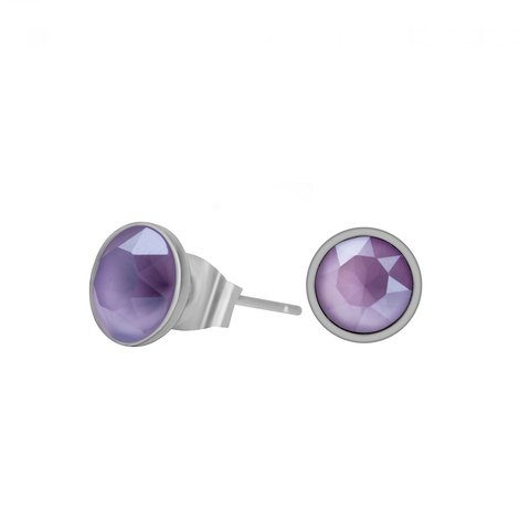 Пусеты Crystal Lilac SWE298 CL S