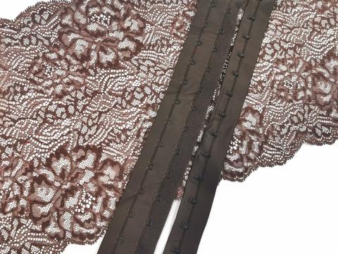 Крючки-петли на ленте, шоколад, (Арт: KPL-111)