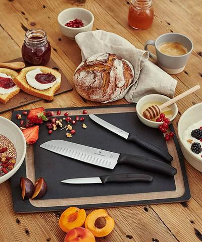 Набор Victorinox кухонный, 4 предмета, черный (подарочная упаковка)