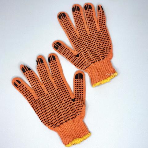 Перчатки трикотажные оранжевые