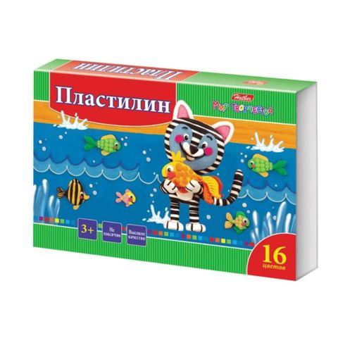 Пластилин HATBER Ушастики 16 цв РОССИЯ