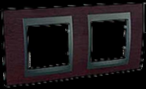 Рамка на 2 поста. Цвет Венге-графит. Schneider electric Unica Top. MGU66.004.2M3