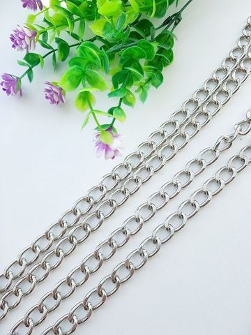 Цепь звено 12 х 18 мм , длина 120 см, цвет серебро