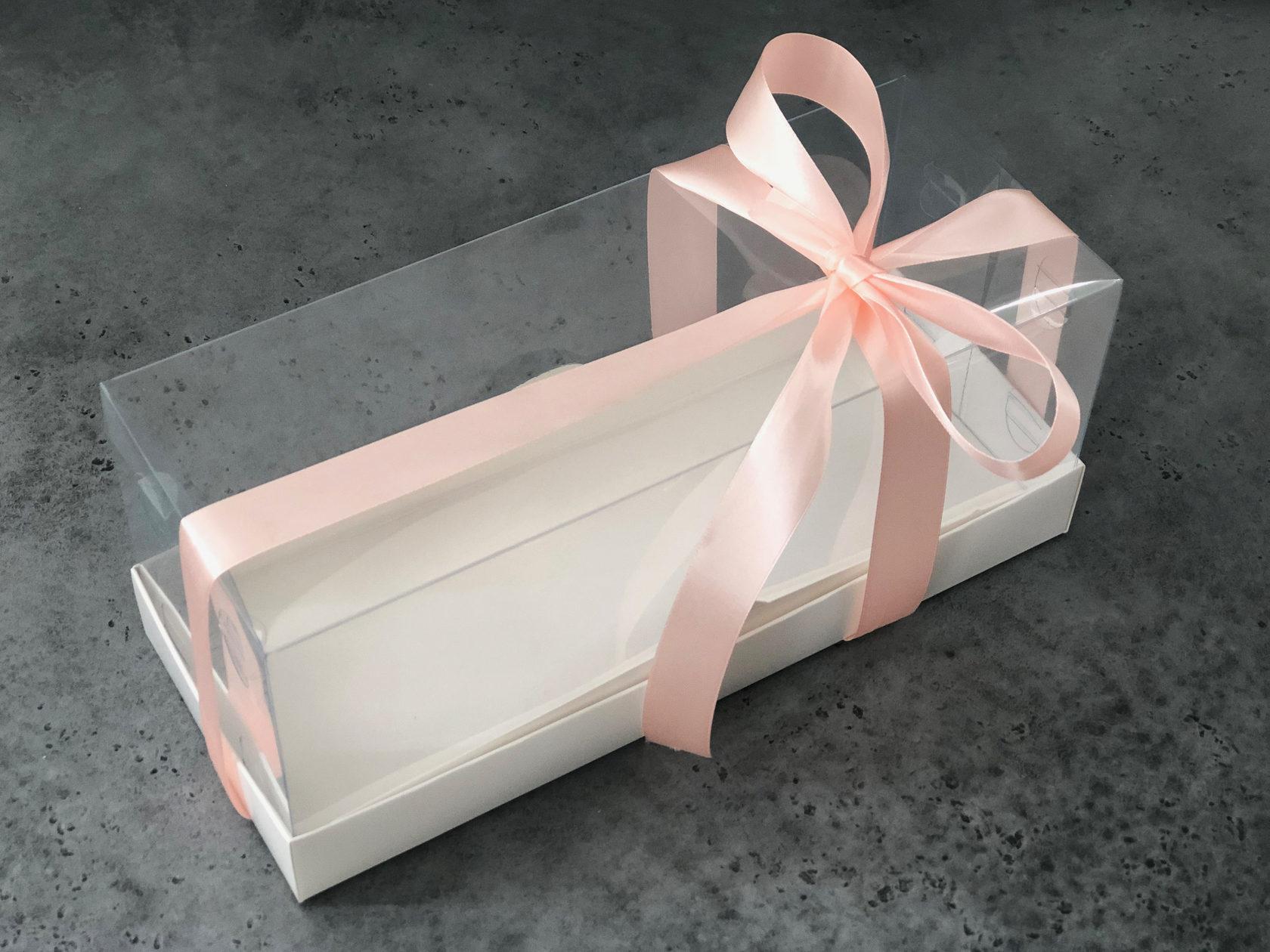 Коробка для рулета прозрачна, 30х12х12 см