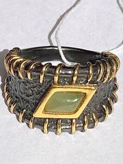 Чабо (кольцо из серебра с позолотой)
