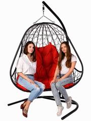 Двухместное подвесное кресло PRIMAVERA BLACK