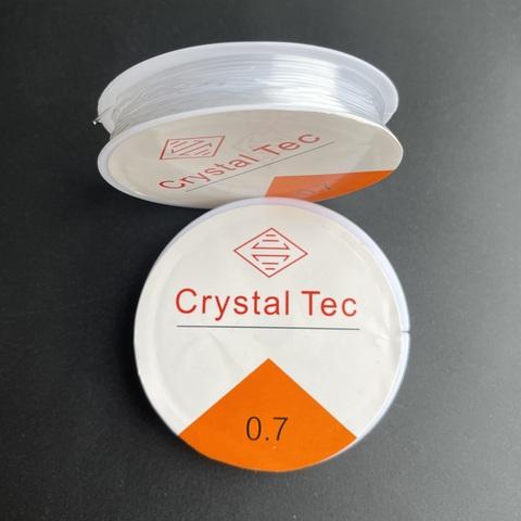 Спандекс резинка 0,7 мм - силиконовая нить-прозрачный