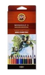 Набор акварельных карандашей MONDELUZ FRUIT 24 цвета в картонной коробке