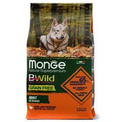 Корм для собак Monge Dog Grain Free утка с картофелем, беззерновой