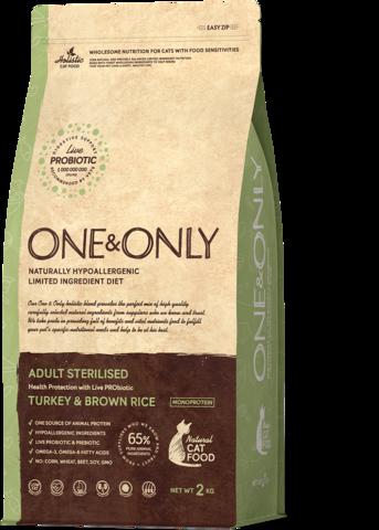 Сухой корм One&Only Turkey & Brown Rice Adult Sterilisie